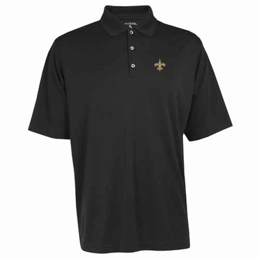 New Orleans Saints Mens Exceed Polo (Team Color: Black)