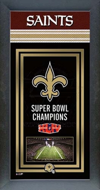 New Orleans Saints Framed Championship Banner