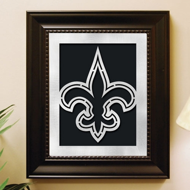 New Orleans Saints Framed Laser Cut Metal Wall Art
