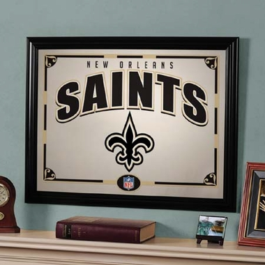 New Orleans Saints Framed Mirror