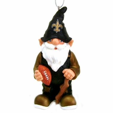 New Orleans Saints Gnome Christmas Ornament
