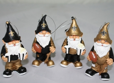 New Orleans Saints Gnome Ornament 4 Pack