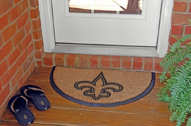 New Orleans Saints Half Moon Door Mat