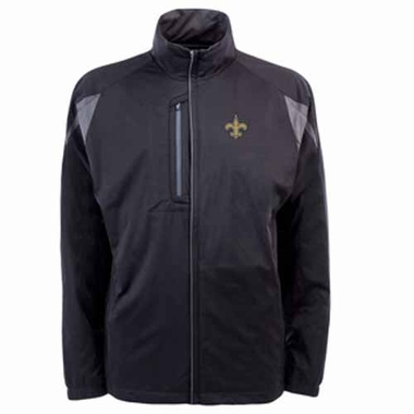 New Orleans Saints Mens Highland Water Resistant Jacket (Team Color: Black)