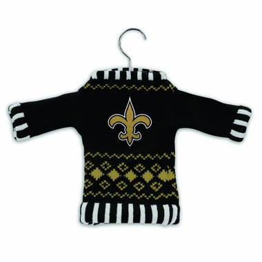 New Orleans Saints Knit Sweater Ornament (Set of 3)