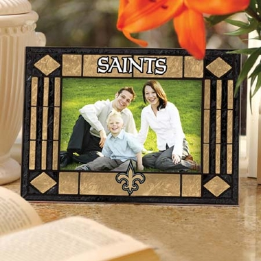 New Orleans Saints Landscape Art Glass Picture Frame