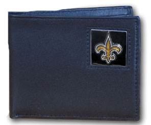 New Orleans Saints Leather Bifold Wallet (F)