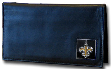 New Orleans Saints Leather Checkbook Cover (F)