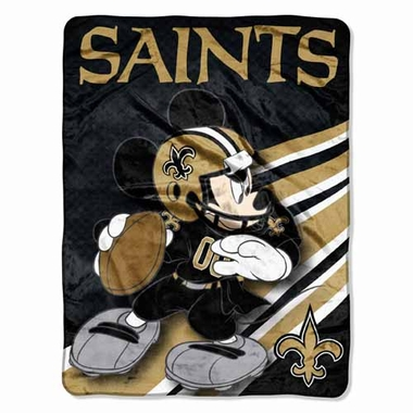 New Orleans Saints Mickey Mouse Microfiber Throw