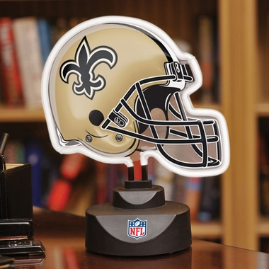 New Orleans Saints Neon Display Helmet