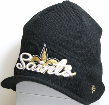 New Orleans Saints New Era NFL Retro Viza Visor Knit Hat