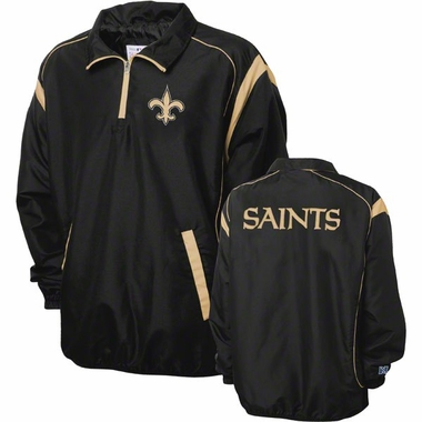 New Orleans Saints NFL Red Zone 1/4 Zip Black Jacket