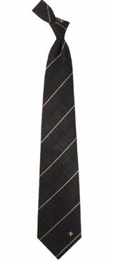 New Orleans Saints Oxford Stripe Woven Silk Necktie