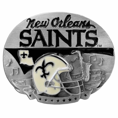 New Orleans Saints Enameled Belt Buckle