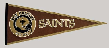 New Orleans Saints Pigskin Pennant