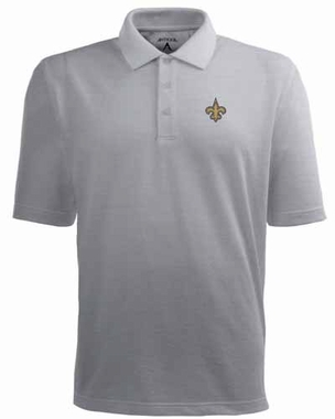 New Orleans Saints Mens Pique Xtra Lite Polo Shirt (Color: Gray)