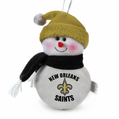 New Orleans Saints Plush Snowman Ornament (Set of 3)