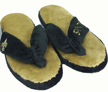 New Orleans Saints Plush Thong Slippers