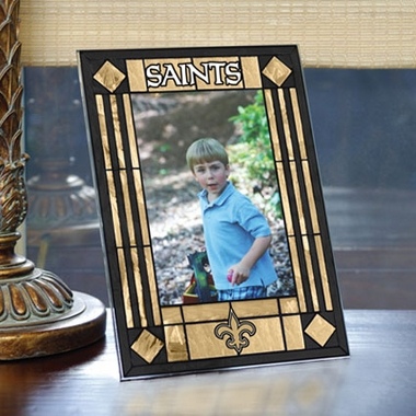 New Orleans Saints Portrait Art Glass Picture Frame