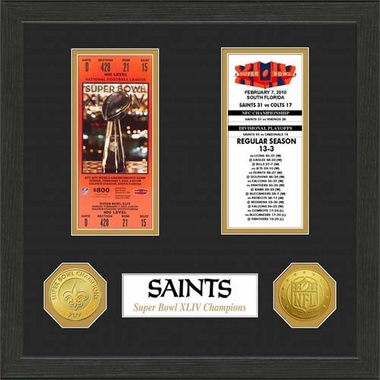 New Orleans Saints New Orleans Saints SB Championship Ticket Collection