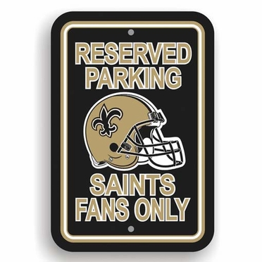 New Orleans Saints Plastic Reserved Parking Sign (P)