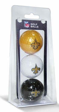 New Orleans Saints Set of 3 Multicolor Golf Balls