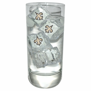 New Orleans Saints Set of 4 Light Up Ice Cubes