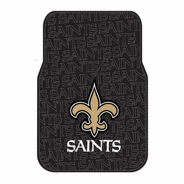New Orleans Saints Set of Rubber Floor Mats