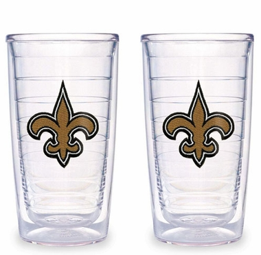 New Orleans Saints Set of TWO 16 oz. Tervis Tumblers