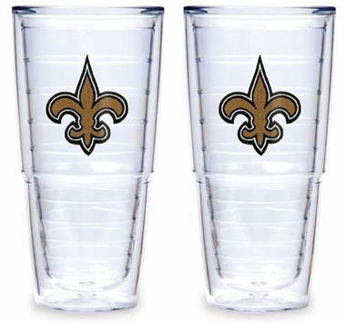 "New Orleans Saints Set of TWO 24 oz. ""Big T"" Tervis Tumblers"
