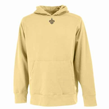 New Orleans Saints Mens Signature Hooded Sweatshirt (Alternate Color: Gold)