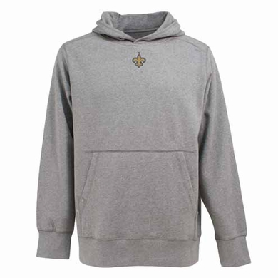 New Orleans Saints Mens Signature Hooded Sweatshirt (Color: Gray)