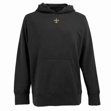 New Orleans Saints Mens Signature Hooded Sweatshirt (Color: Black)