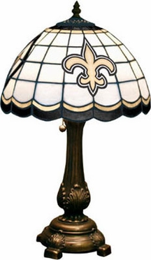 New Orleans Saints Stained Glass Table Lamp
