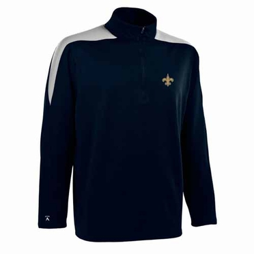New Orleans Saints Mens Succeed 1/4 Zip Performance Pullover (Color: Smoke)