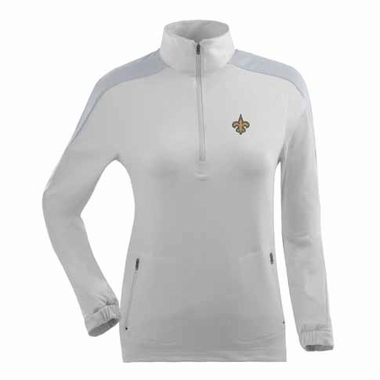 New Orleans Saints Womens Succeed 1/4 Zip Performance Pullover (Color: White)
