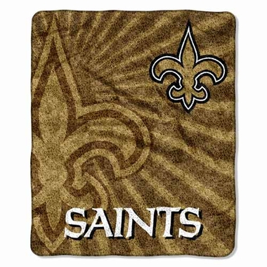 New Orleans Saints Super-Soft Sherpa Blanket