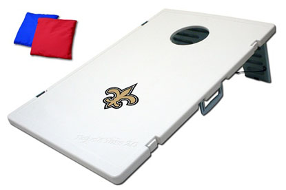 New Orleans Saints Tailgate Toss 2.0 Cornhole Beanbag Game
