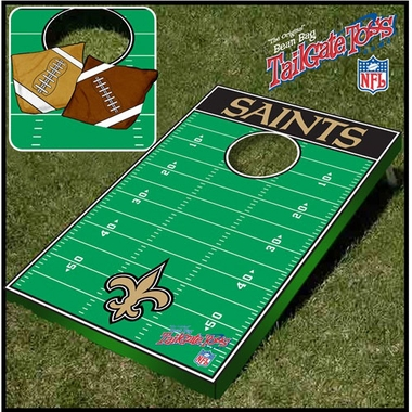New Orleans Saints Tailgate Toss Cornhole Beanbag Game