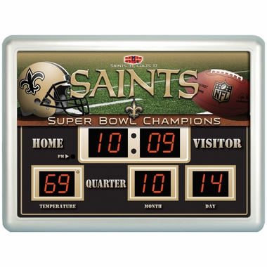 New Orleans Saints Time / Date / Temp. Scoreboard