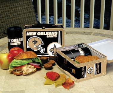 New Orleans Saints Tin Lunch Box