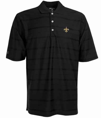 New Orleans Saints Mens Tonal Polo (Team Color: Black)