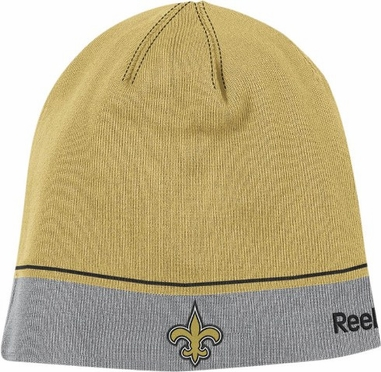 New Orleans Saints Two Tone Cuffless Knit Hat