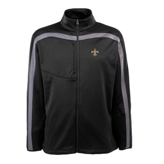 New Orleans Saints Mens Viper Full Zip Performance Jacket (Team Color: Black)