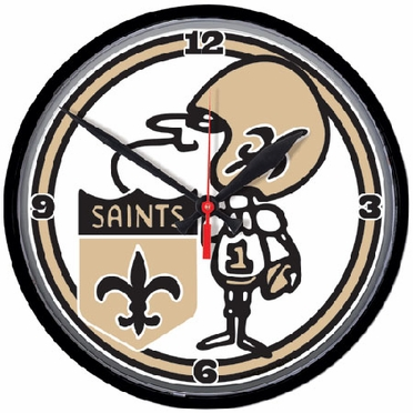 New Orleans Saints Wall Clock (Throwback)