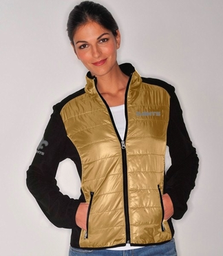 New Orleans Saints Women's Everest Full Zip Quilted Front Panel Jacket