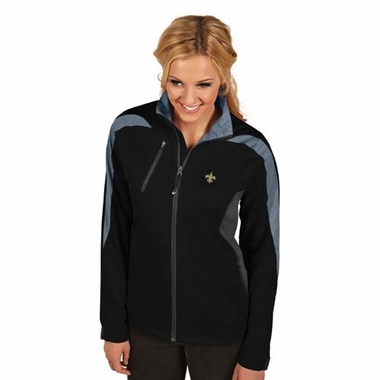 New Orleans Saints Womens Discover Jacket (Color: Black)
