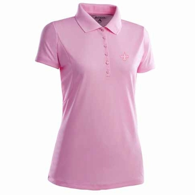 New Orleans Saints Womens Pique Xtra Lite Polo Shirt (Color: Pink)