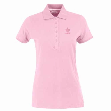 New Orleans Saints Womens Spark Polo (Color: Pink)