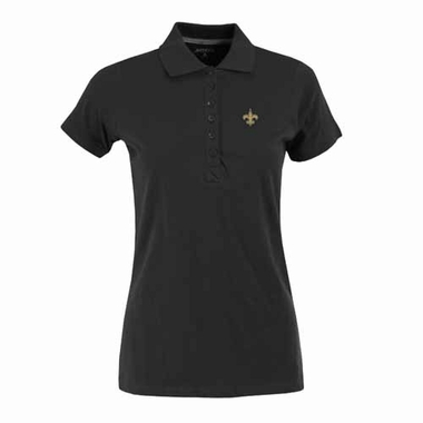 New Orleans Saints Womens Spark Polo (Team Color: Black)
